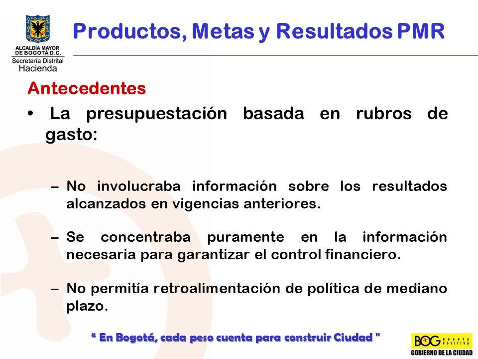 Productos, Metas y Resultados PMR