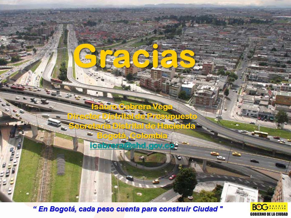 Gracias Isauro Cabrera Vega Director Distrital de Presupuesto