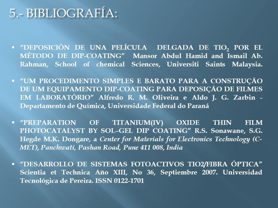 5.- BIBLIOGRAFÍA: