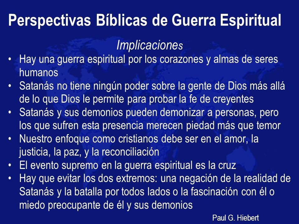 Perspectivas Bíblicas de Guerra Espiritual