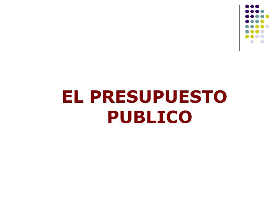 EL PRESUPUESTO PUBLICO