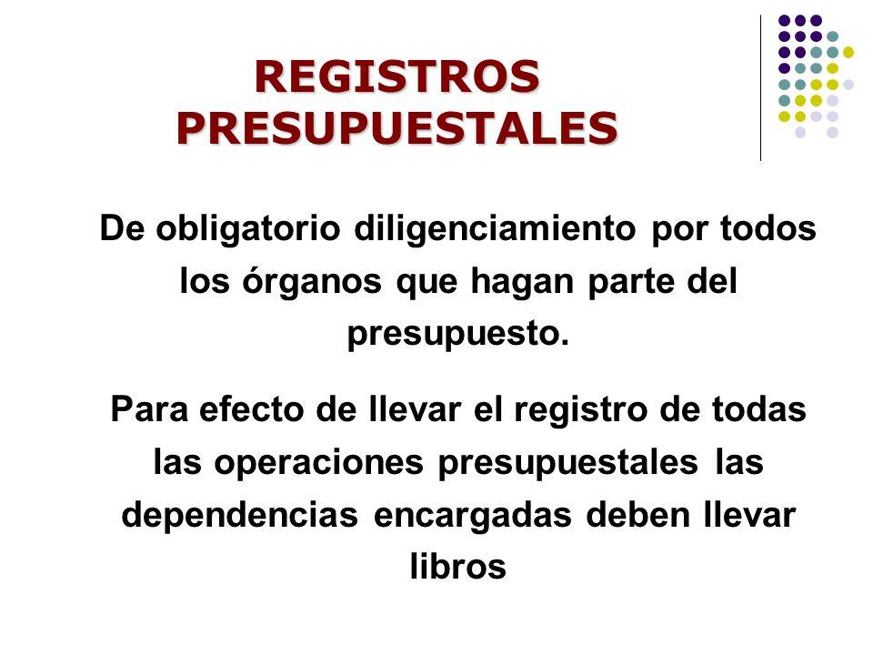 REGISTROS PRESUPUESTALES
