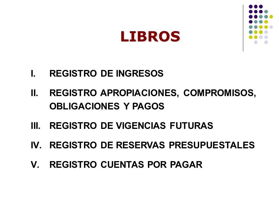 LIBROS REGISTRO DE INGRESOS