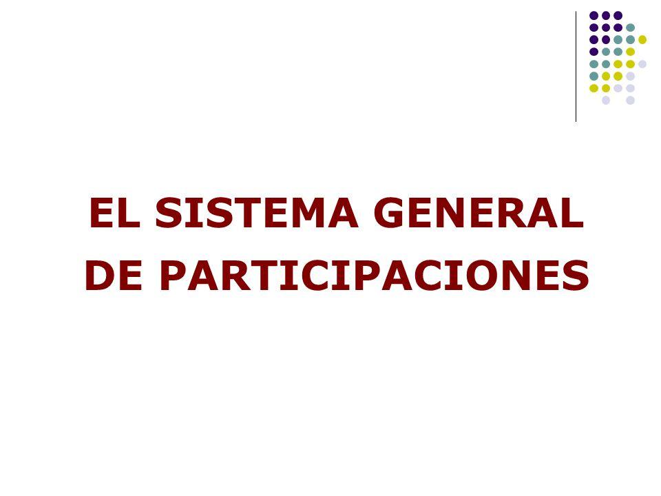 EL SISTEMA GENERAL DE PARTICIPACIONES