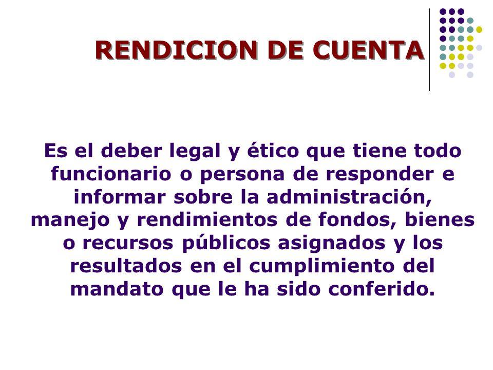 RENDICION DE CUENTA