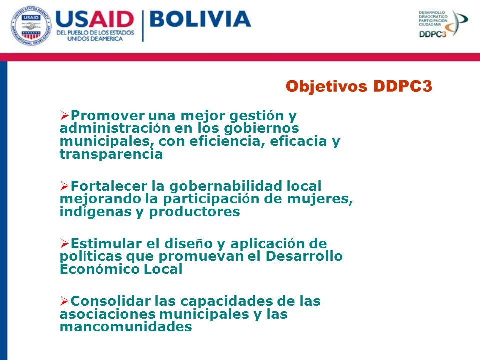 Objetivos DDPC3 Objetivos DDPC3