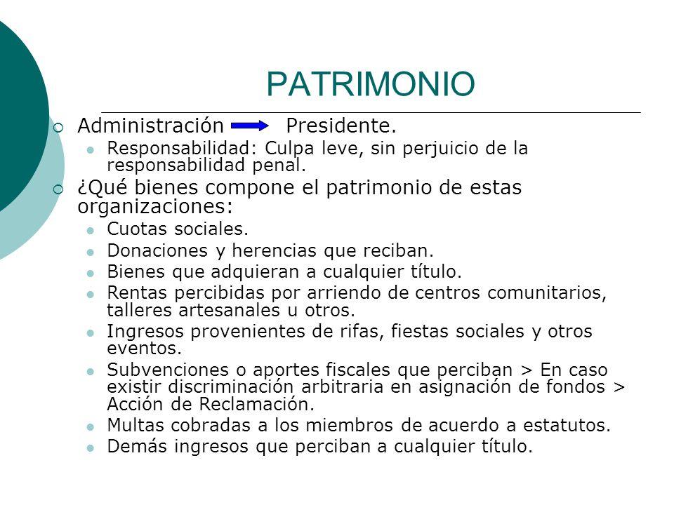 PATRIMONIO Administración Presidente.