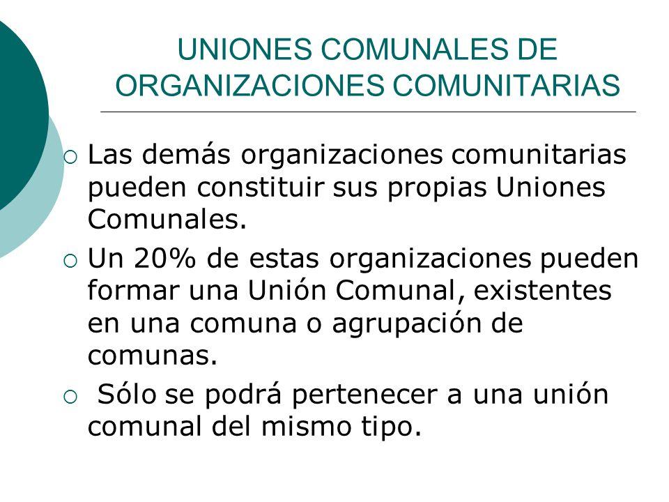 UNIONES COMUNALES DE ORGANIZACIONES COMUNITARIAS