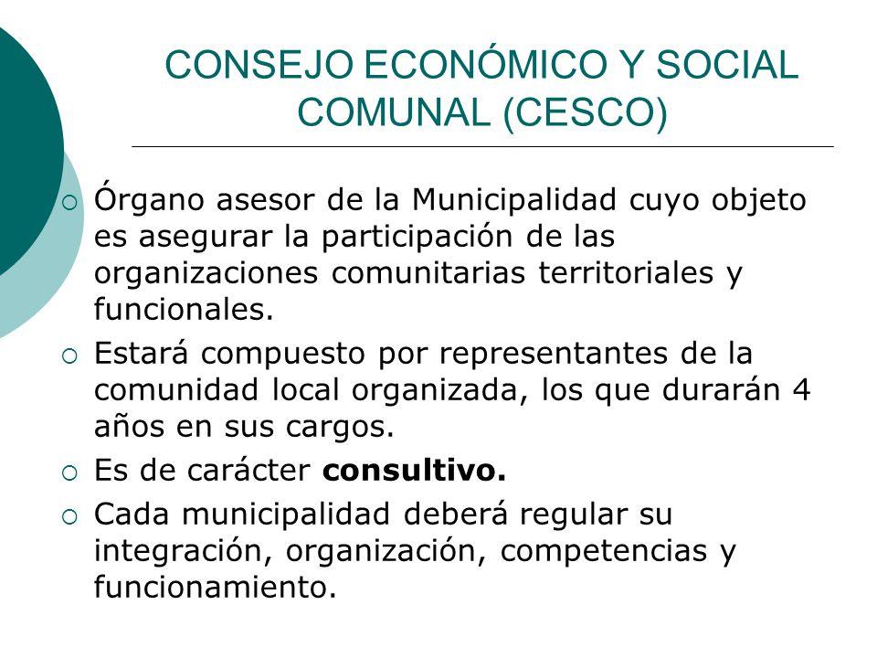 CONSEJO ECONÓMICO Y SOCIAL COMUNAL (CESCO)