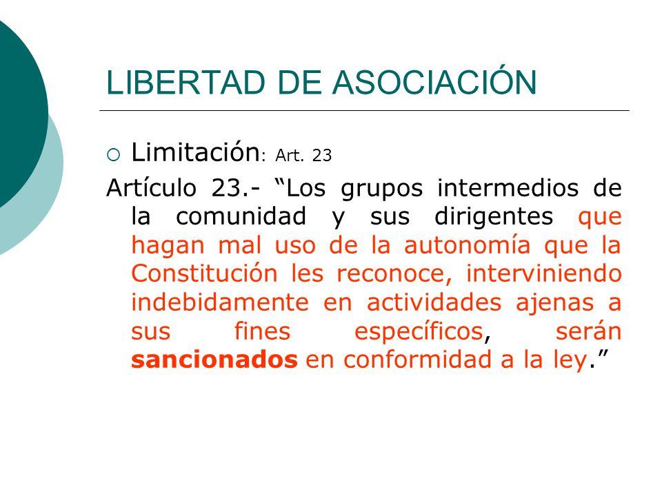 LIBERTAD DE ASOCIACIÓN