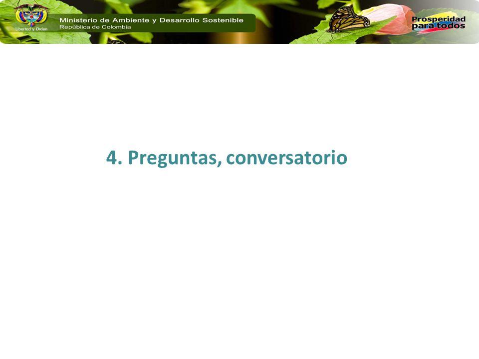 4. Preguntas, conversatorio