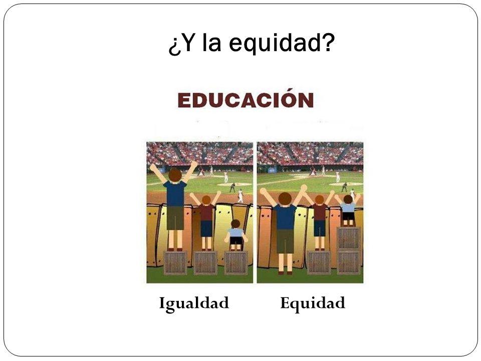 ¿Y la equidad Igualdad Equidad