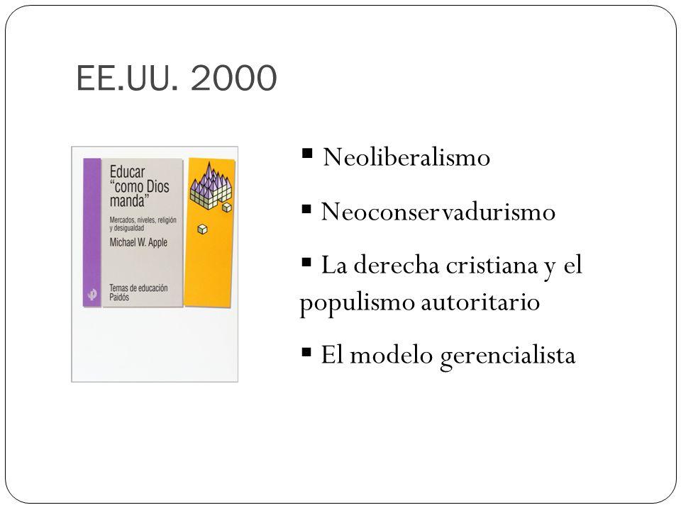 EE.UU. 2000 Neoliberalismo Neoconservadurismo