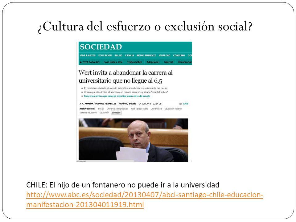 ¿Cultura del esfuerzo o exclusión social