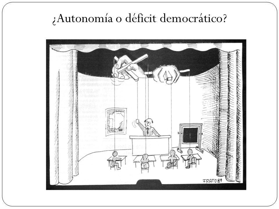 ¿Autonomía o déficit democrático