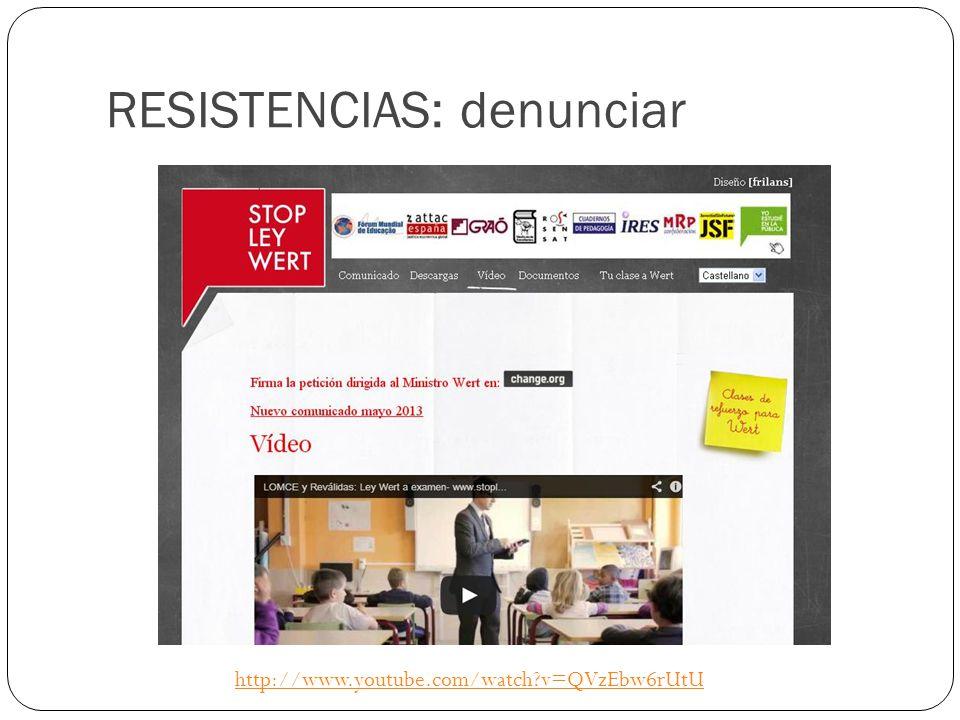RESISTENCIAS: denunciar