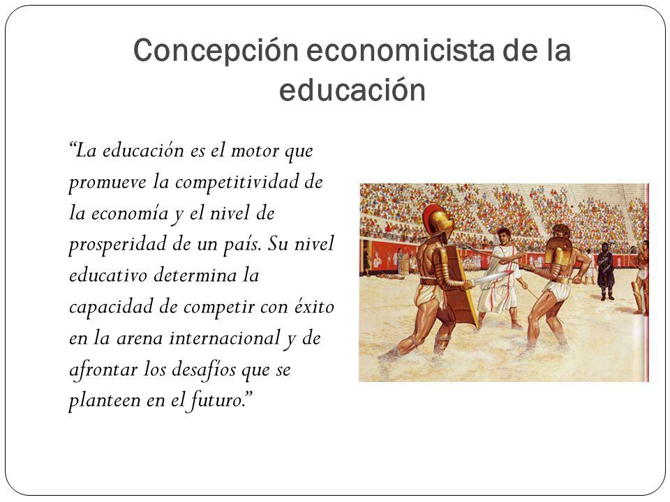 Concepción economicista de la educación