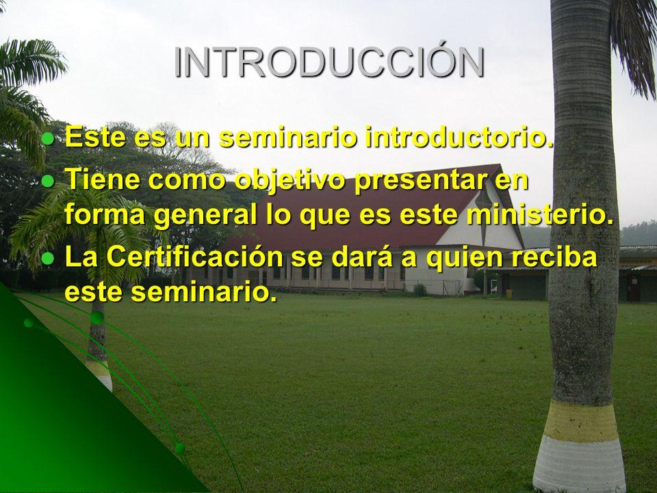 INTRODUCCIÓN Este es un seminario introductorio.