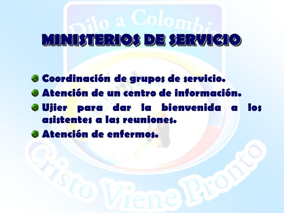MINISTERIOS DE SERVICIO