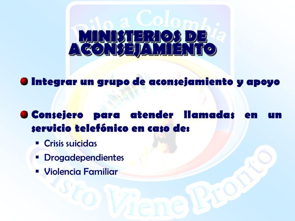 MINISTERIOS DE ACONSEJAMIENTO