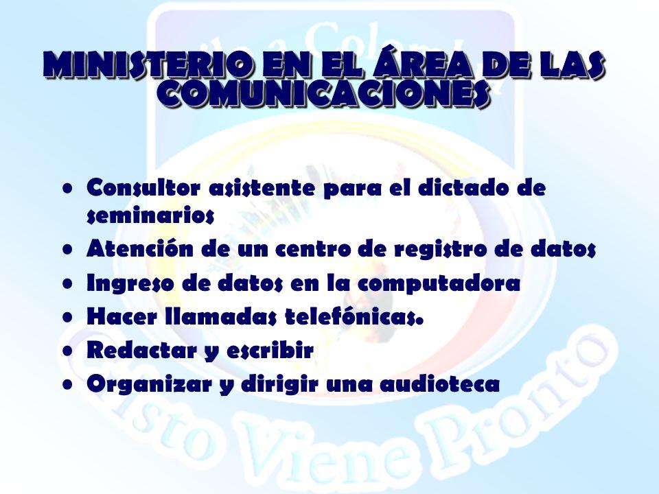 MINISTERIO EN EL ÁREA DE LAS COMUNICACIONES