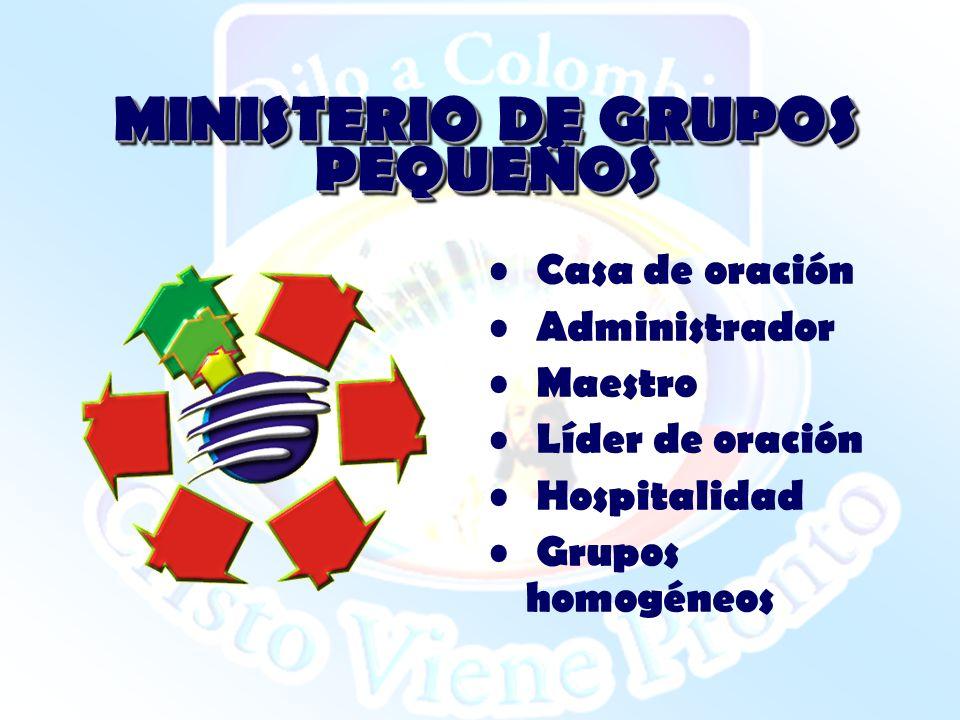 MINISTERIO DE GRUPOS PEQUEÑOS
