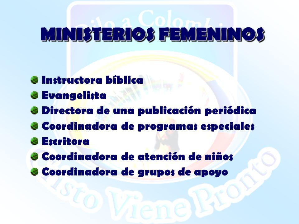 MINISTERIOS FEMENINOS