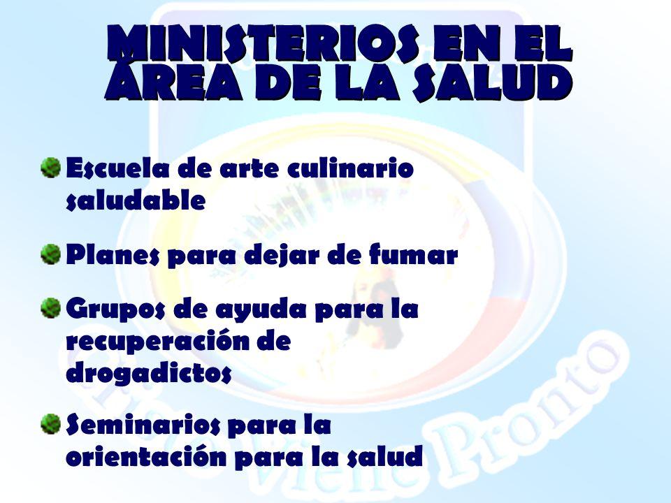 MINISTERIOS EN EL ÁREA DE LA SALUD