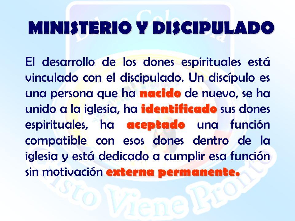 MINISTERIO Y DISCIPULADO