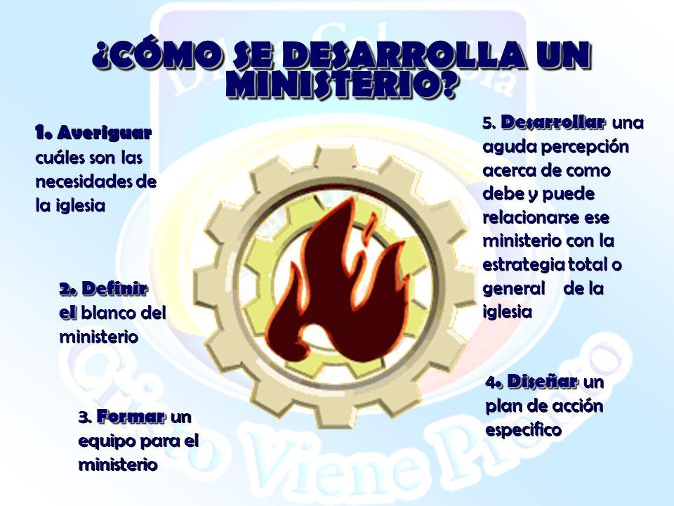 ¿CÓMO SE DESARROLLA UN MINISTERIO