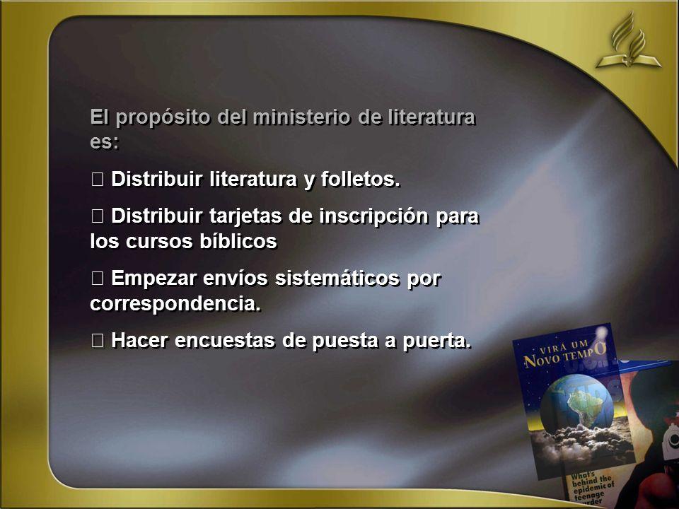 El propósito del ministerio de literatura es: