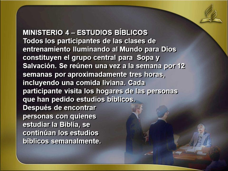 MINISTERIO 4 – ESTUDIOS BÍBLICOS