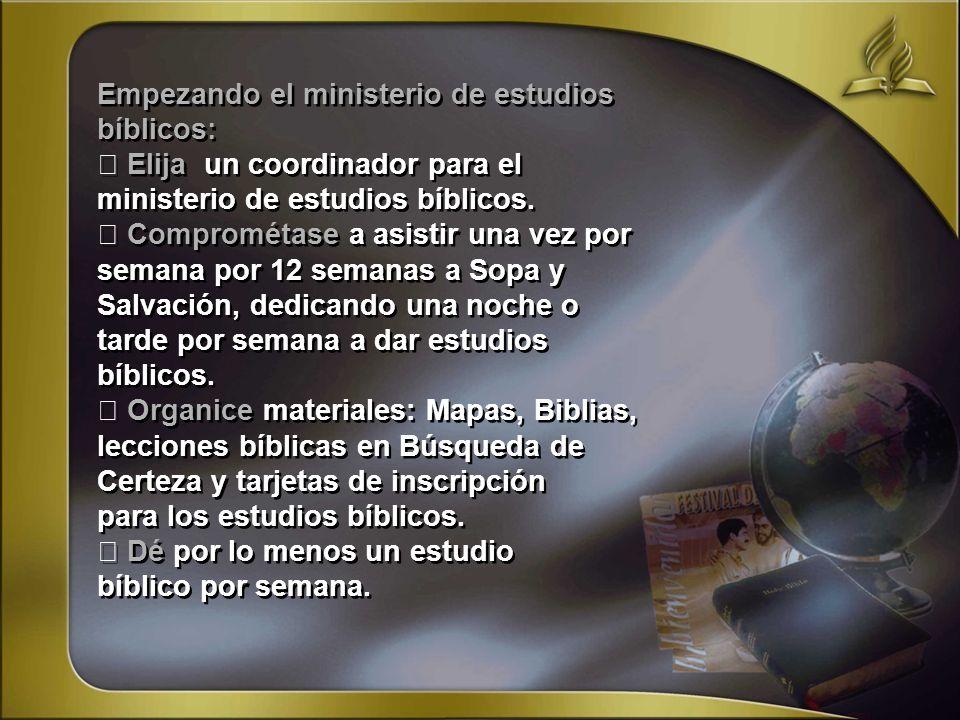 Empezando el ministerio de estudios bíblicos: