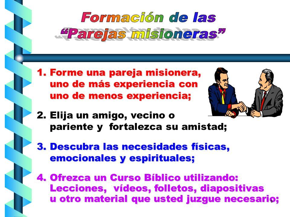 Formación de las Parejas misioneras