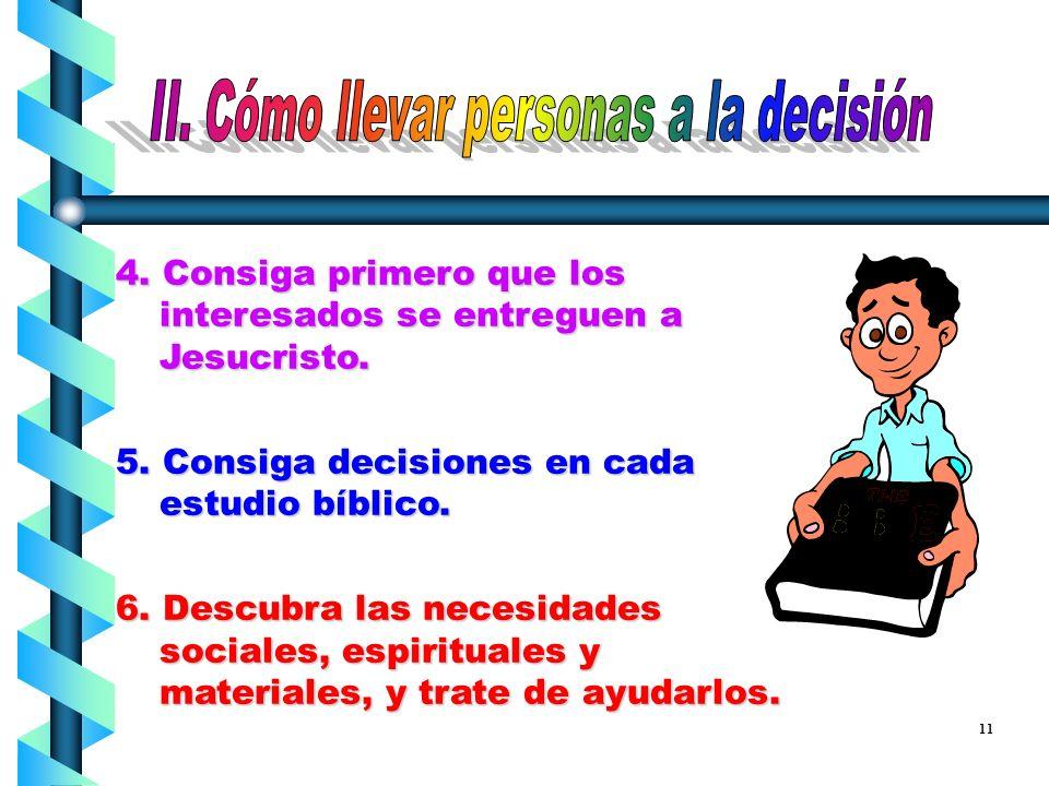 II. Cómo llevar personas a la decisión