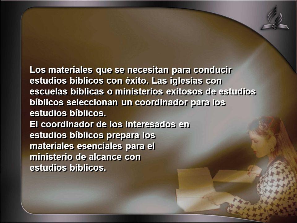 Los materiales que se necesitan para conducir estudios bíblicos con éxito.