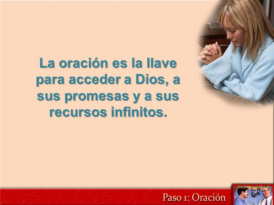 La oración es la llave para acceder a Dios, a sus promesas y a sus recursos infinitos.