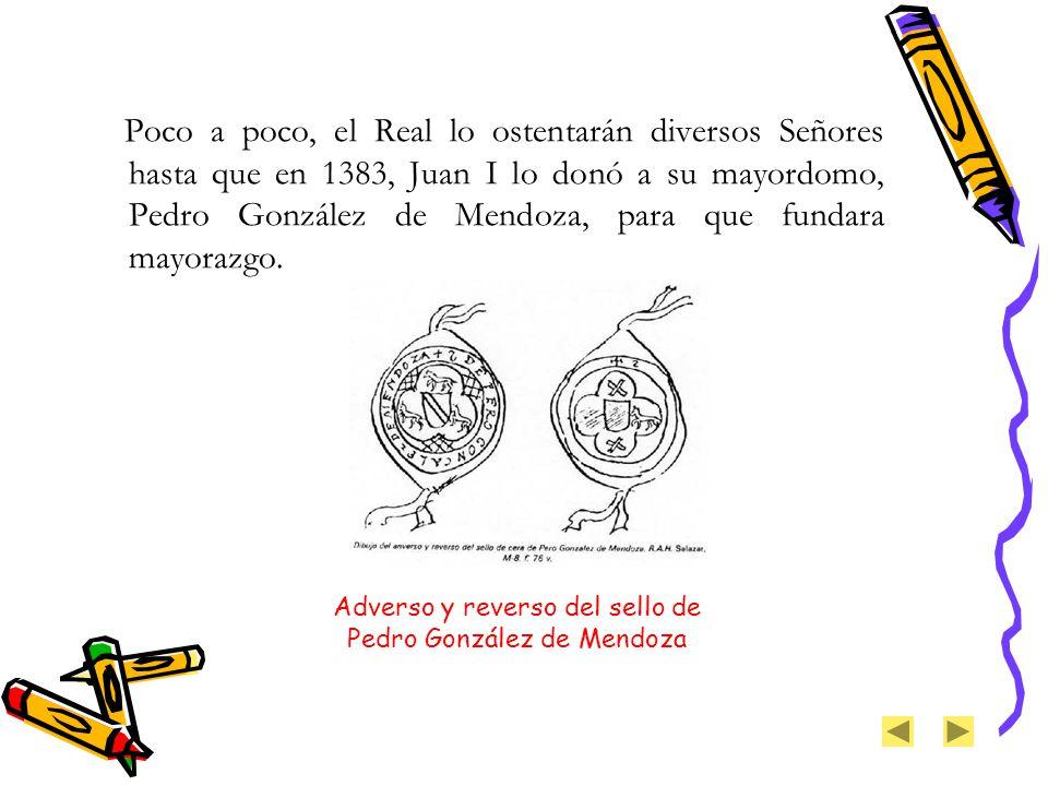 Adverso y reverso del sello de Pedro González de Mendoza