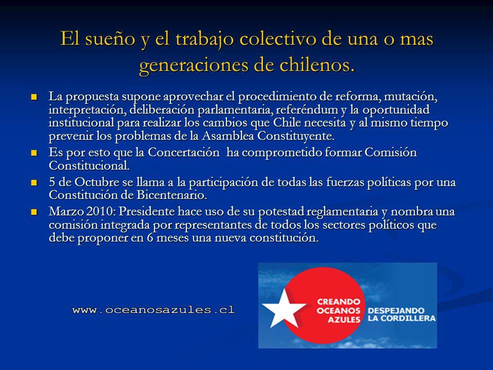 El sueño y el trabajo colectivo de una o mas generaciones de chilenos.