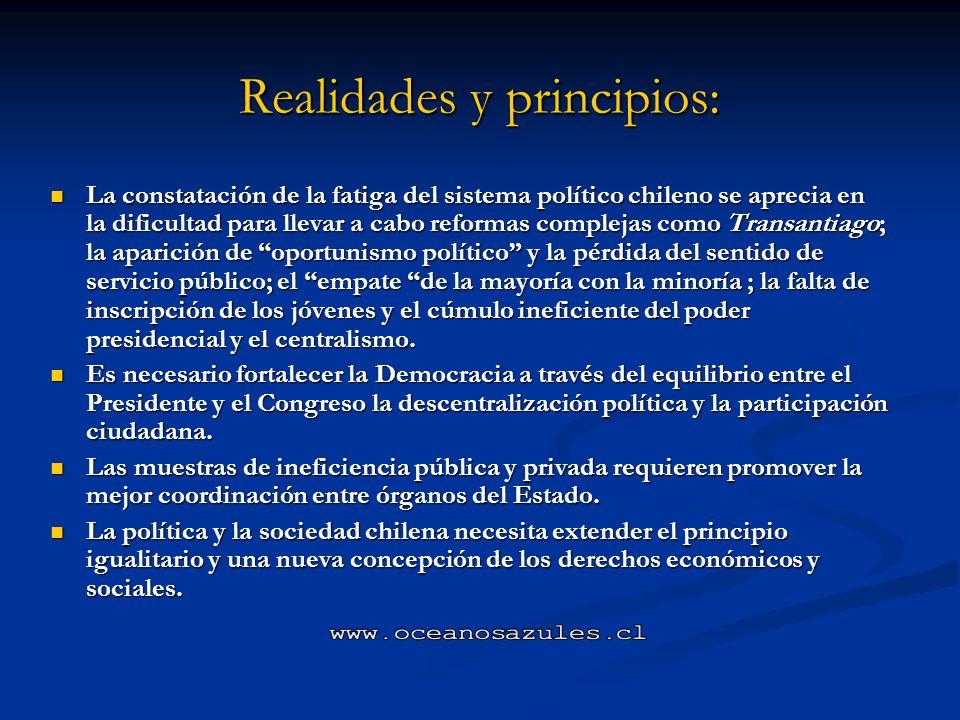 Realidades y principios: