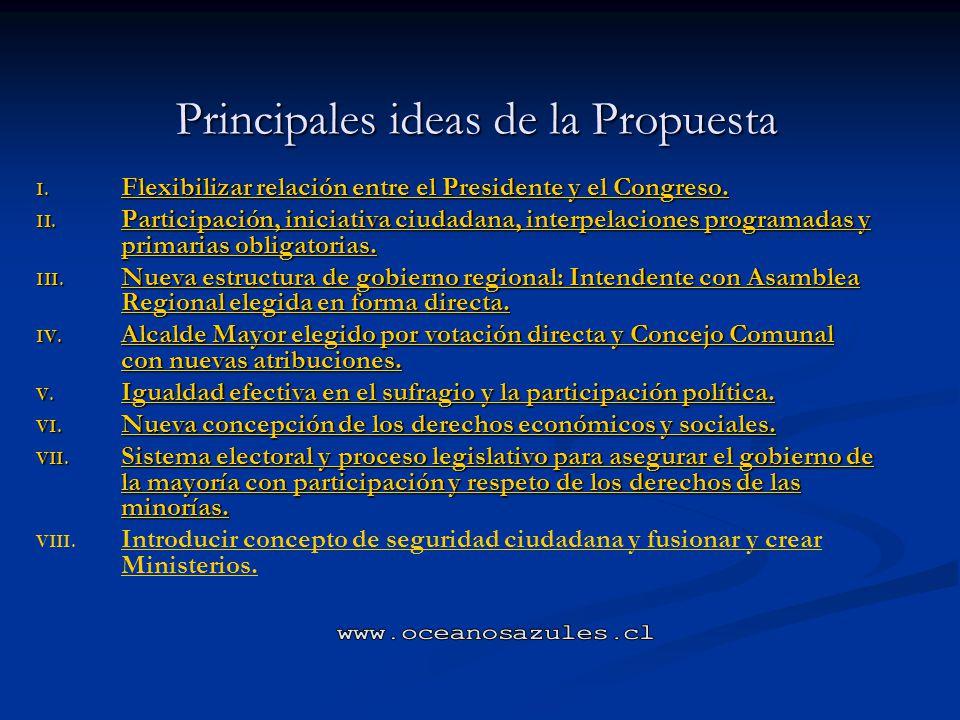 Principales ideas de la Propuesta