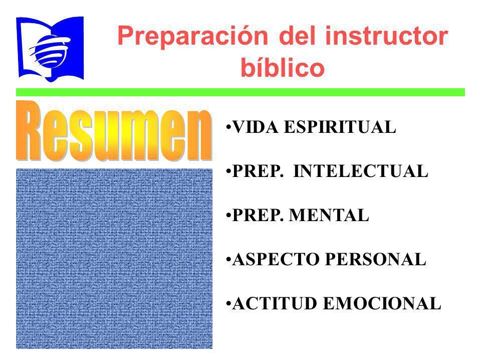 Preparación del instructor bíblico