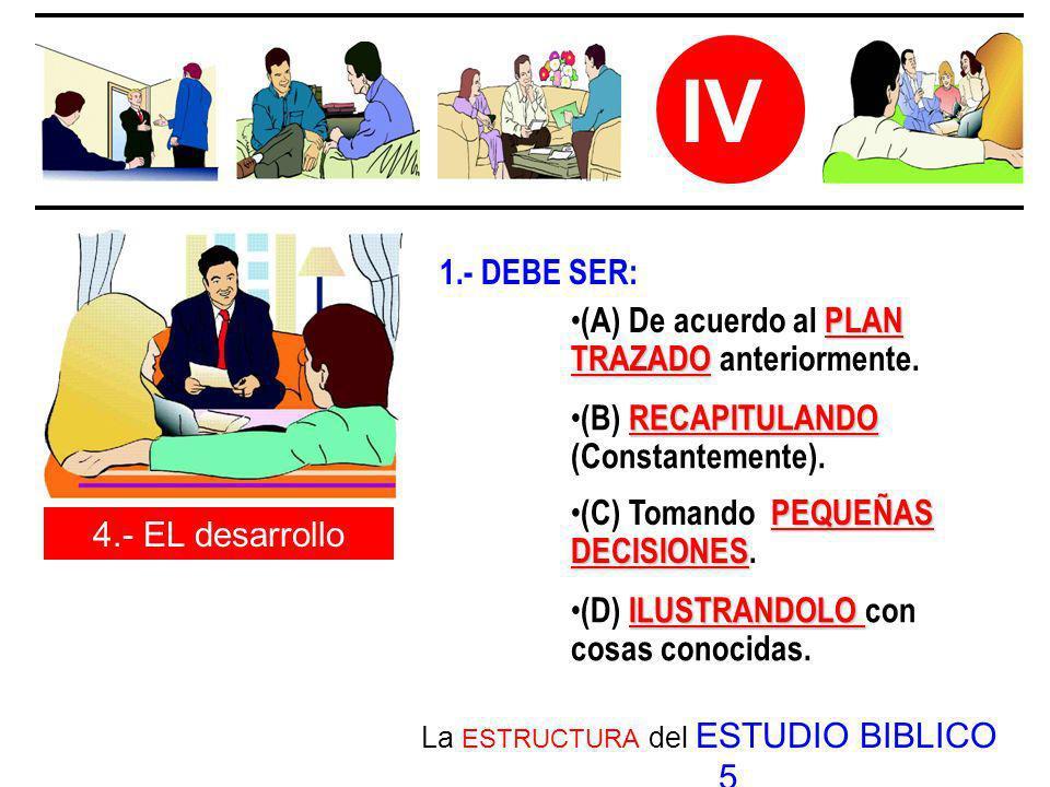 La ESTRUCTURA del ESTUDIO BIBLICO 5