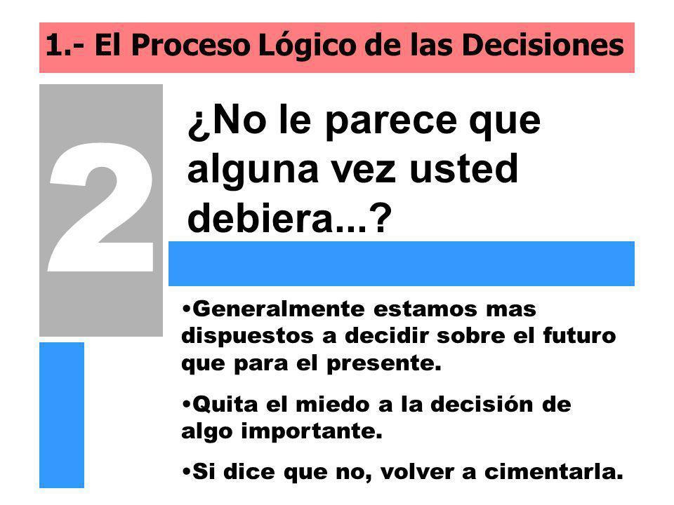 1.- El Proceso Lógico de las Decisiones
