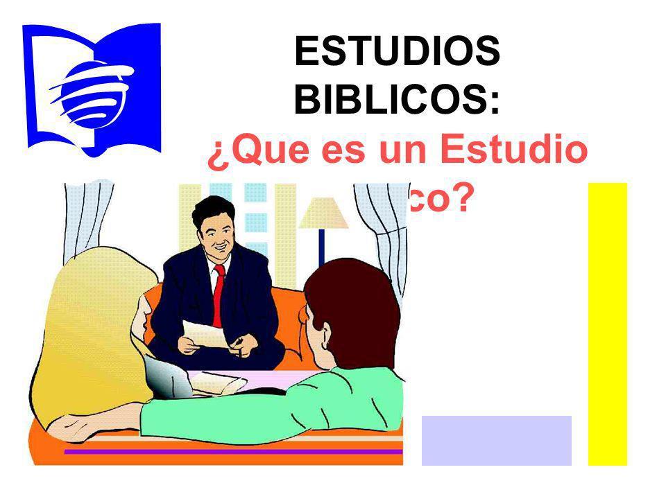 ¿Que es un Estudio bíblico