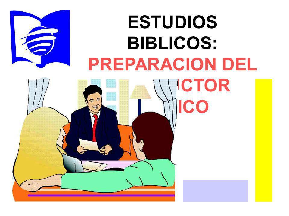 PREPARACION DEL INSTRUCTOR BIBLICO