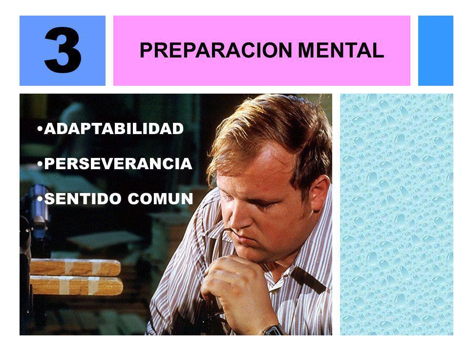 3 PREPARACION MENTAL ADAPTABILIDAD PERSEVERANCIA SENTIDO COMUN