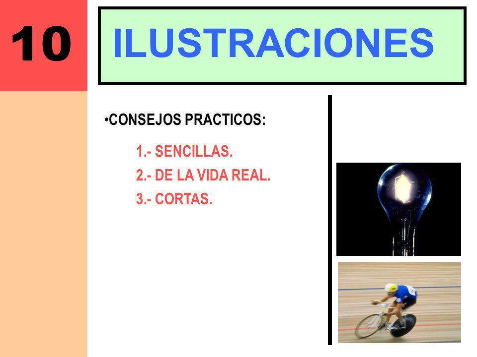 10 ILUSTRACIONES CONSEJOS PRACTICOS: 1.- SENCILLAS.