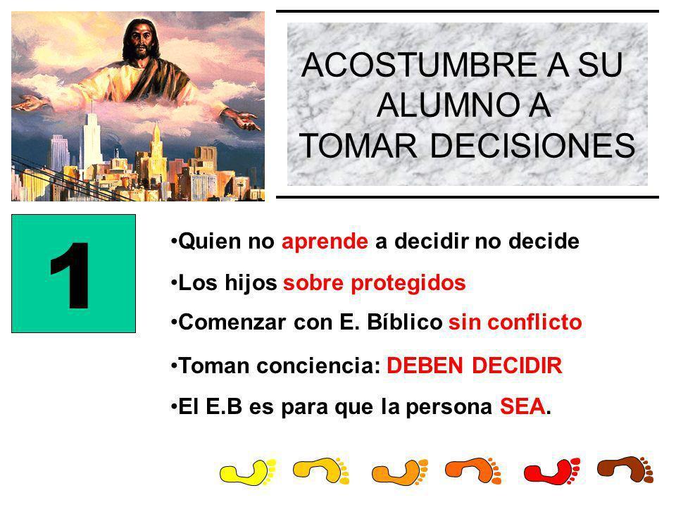 1 ACOSTUMBRE A SU ALUMNO A TOMAR DECISIONES