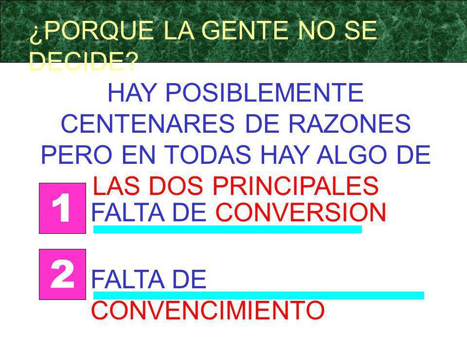 1 2 ¿PORQUE LA GENTE NO SE DECIDE